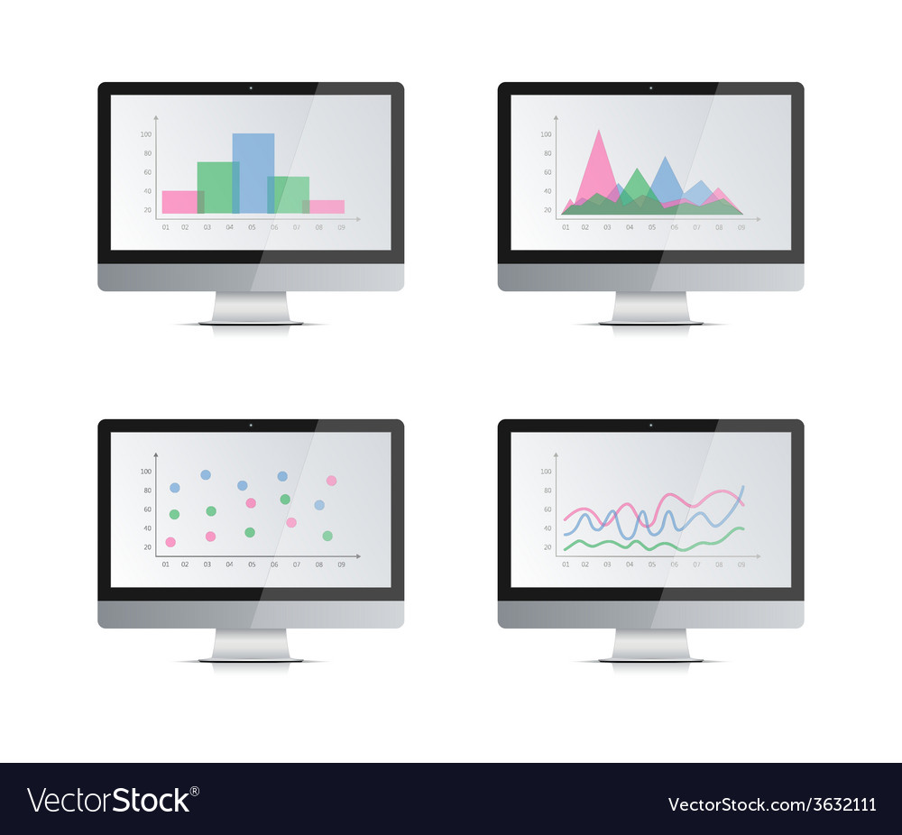 Computer monitor2 vector | Price: 1 Credit (USD $1)