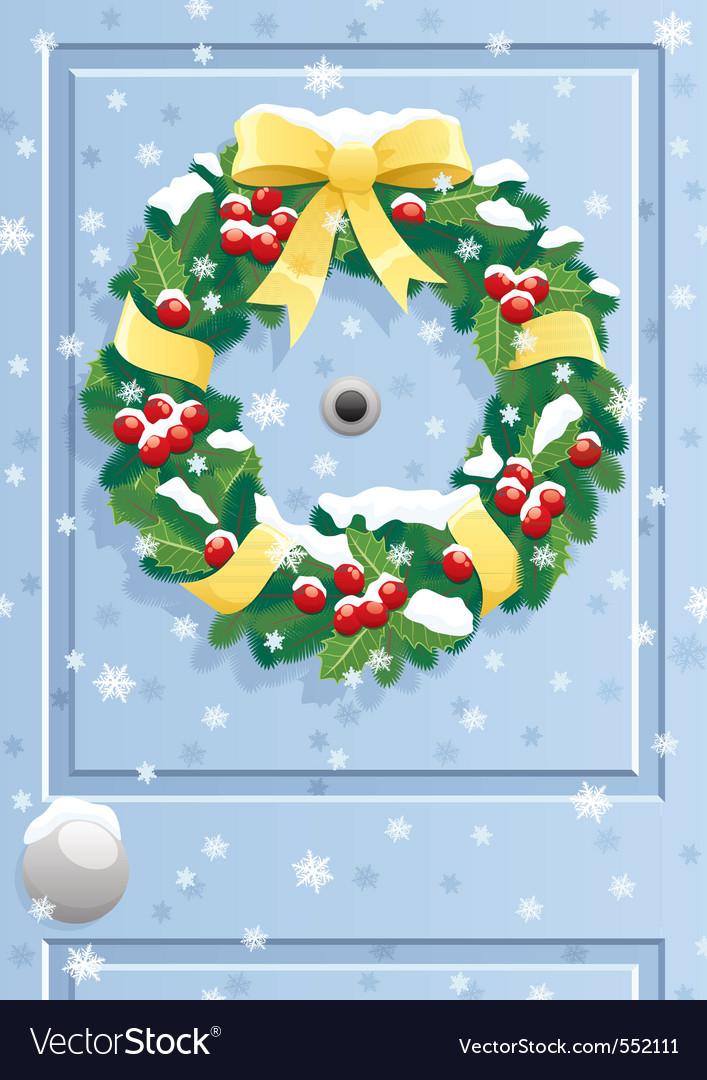 Door wreath vector | Price: 1 Credit (USD $1)