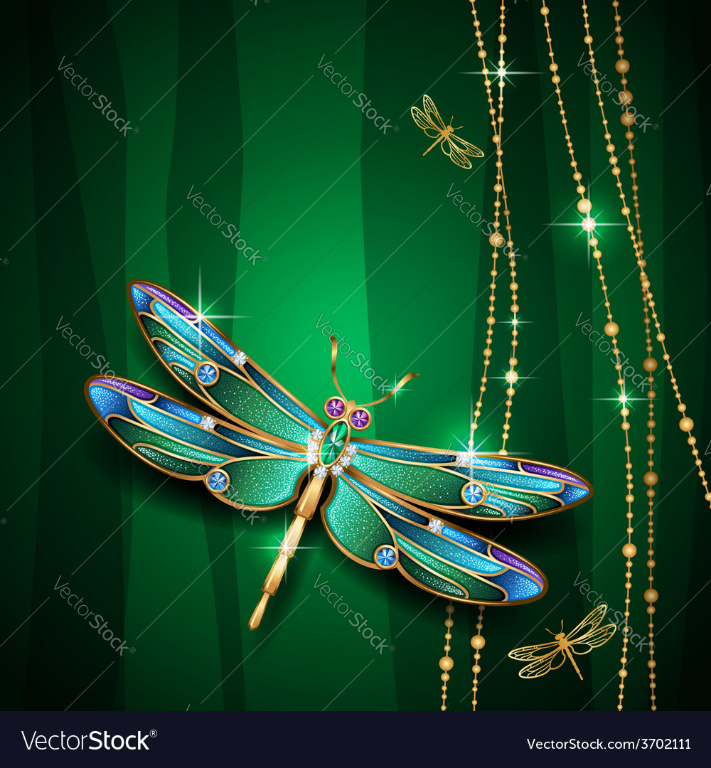 Dragonfly green vector | Price: 1 Credit (USD $1)