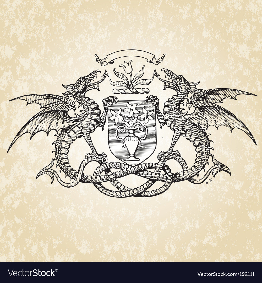 Dragons illustration vector | Price: 1 Credit (USD $1)