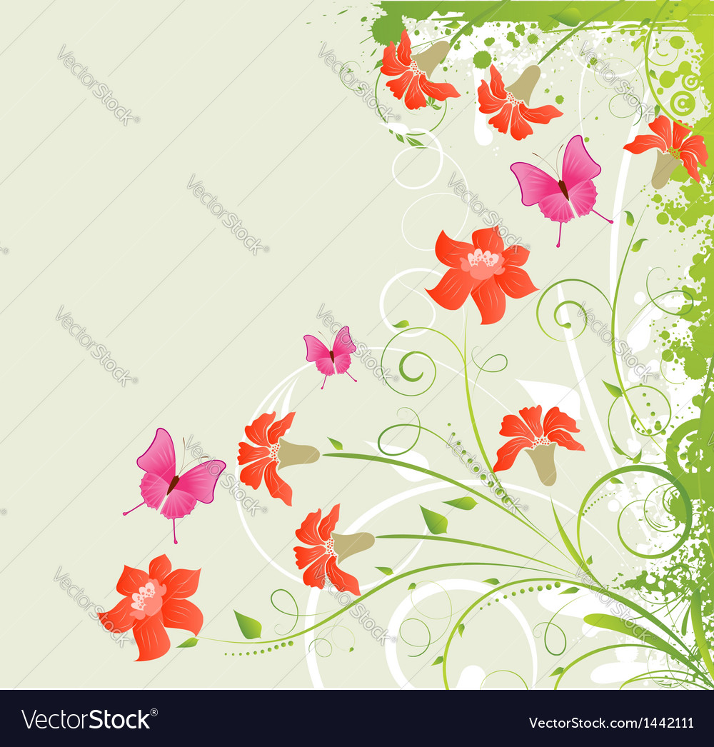 Grunge floral corner vector | Price: 1 Credit (USD $1)