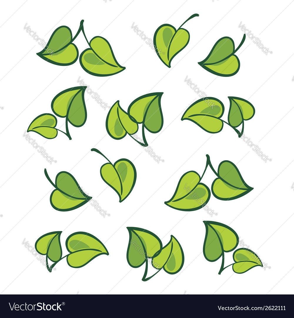 Leafs isolated vector | Price: 1 Credit (USD $1)
