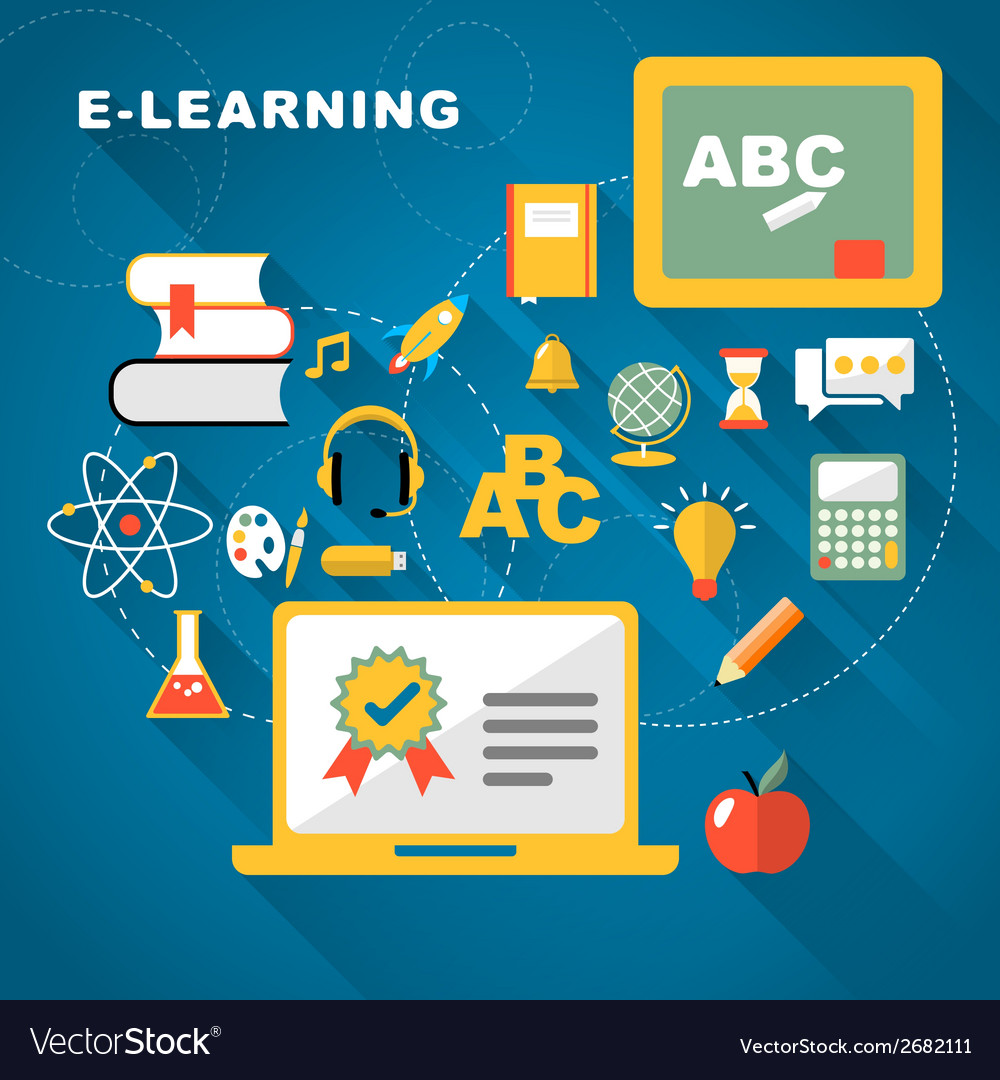 Learning flat design vector | Price: 1 Credit (USD $1)