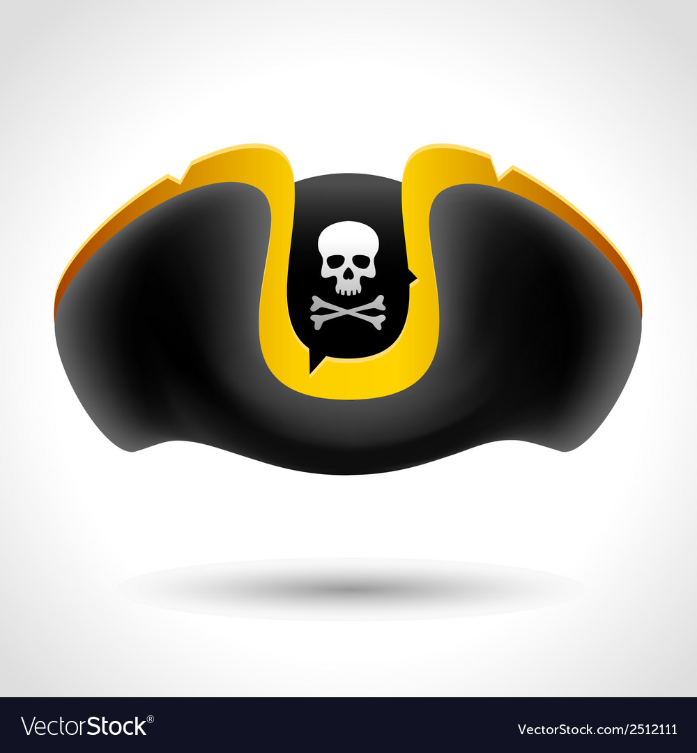 Pirate hat with skull and crossed bones vector | Price: 1 Credit (USD $1)