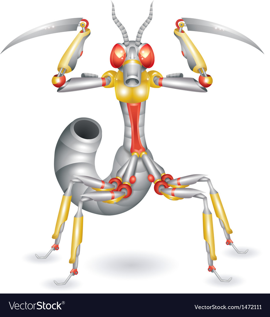 Robot-mantis vector | Price: 1 Credit (USD $1)