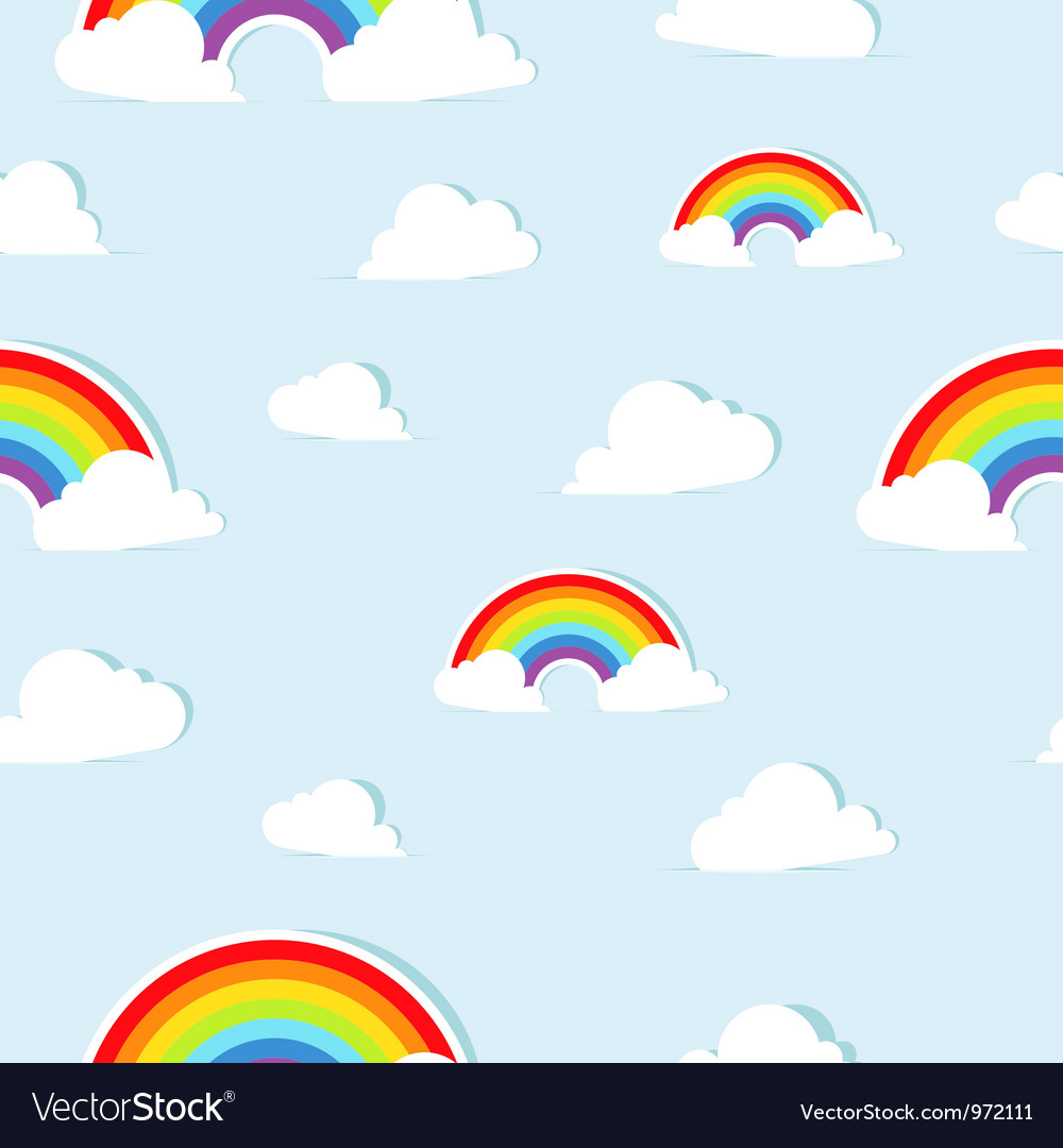 Seamless pattern with abstract paper rainbows vector | Price: 1 Credit (USD $1)