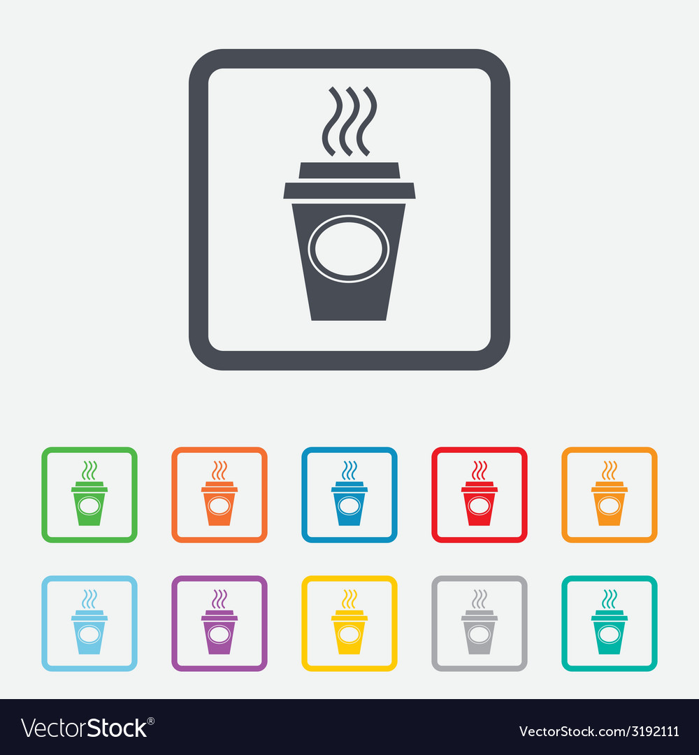 Take a coffee sign icon hot coffee cup vector   Price: 1 Credit (USD $1)