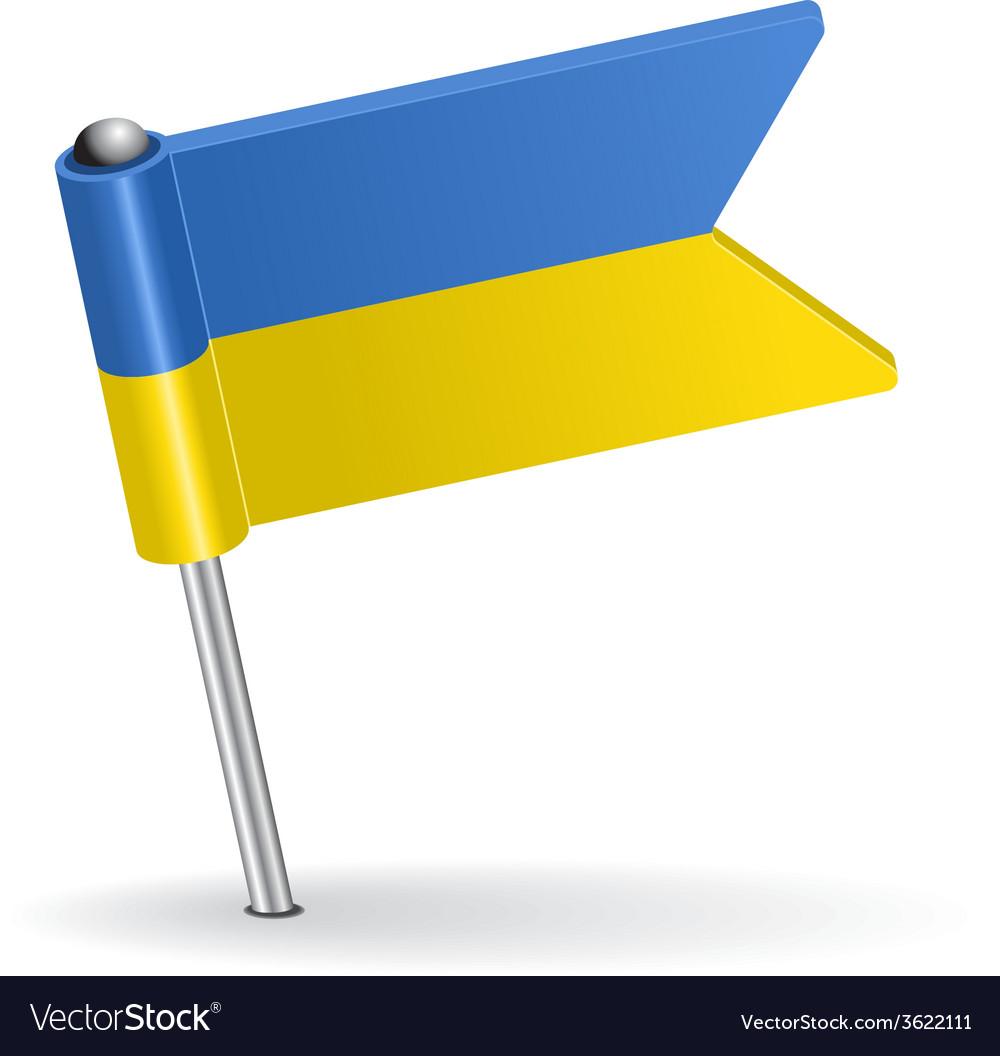 Ukrainian pin icon flag vector | Price: 1 Credit (USD $1)