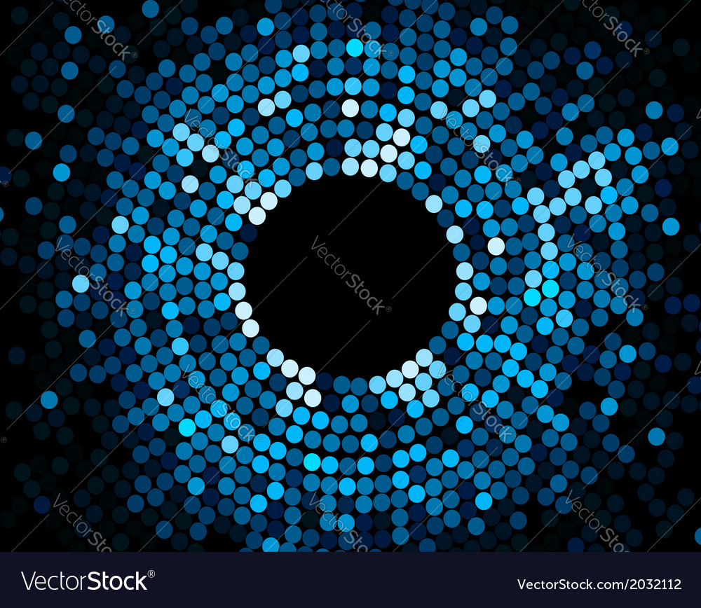 Abstract mosaic blue background vector | Price: 1 Credit (USD $1)