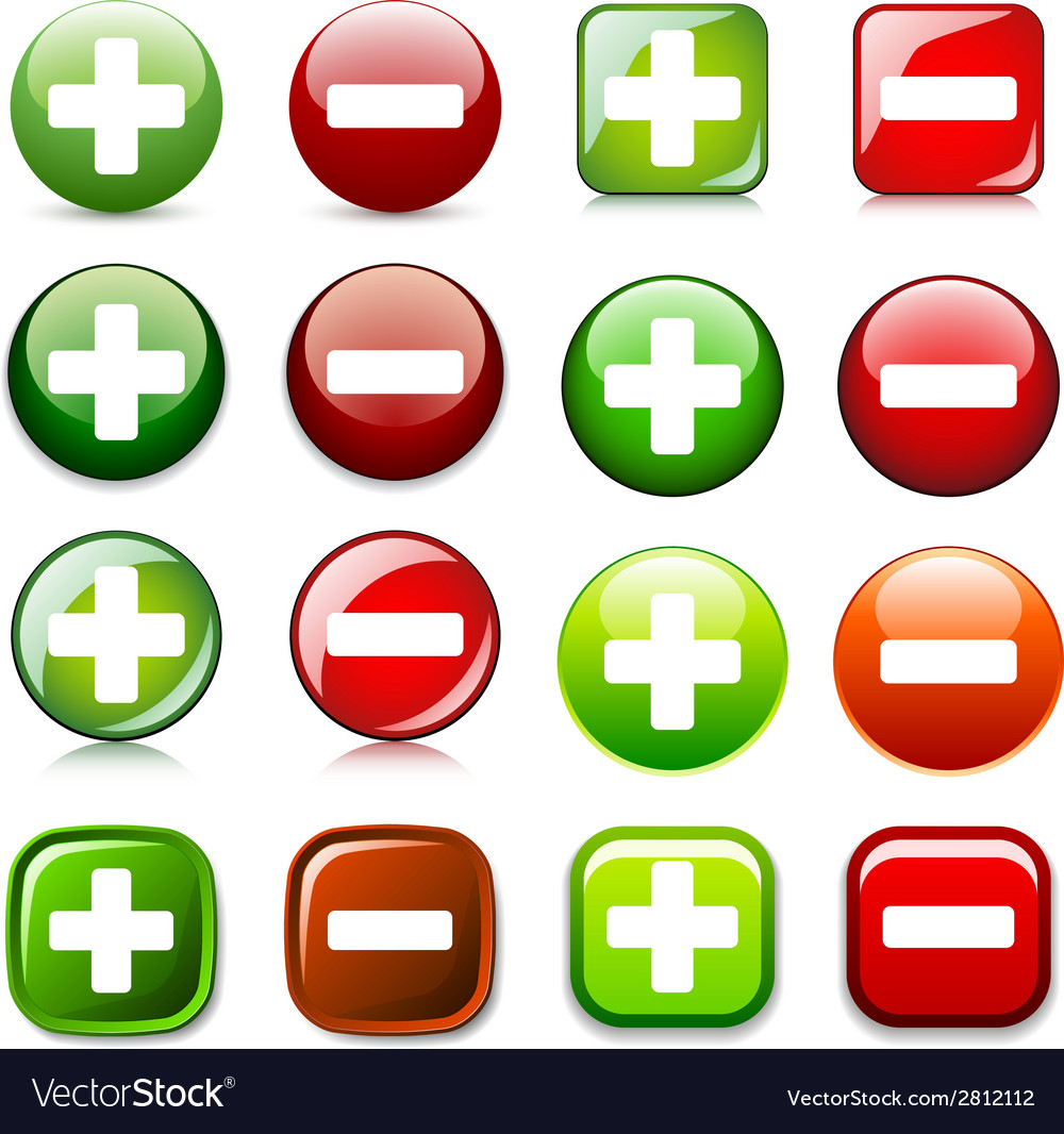 Add delete or show hide color buttons vector | Price: 1 Credit (USD $1)