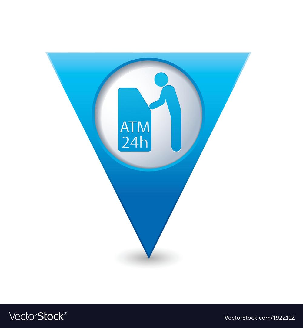 Atm icon pointer blue vector | Price: 1 Credit (USD $1)
