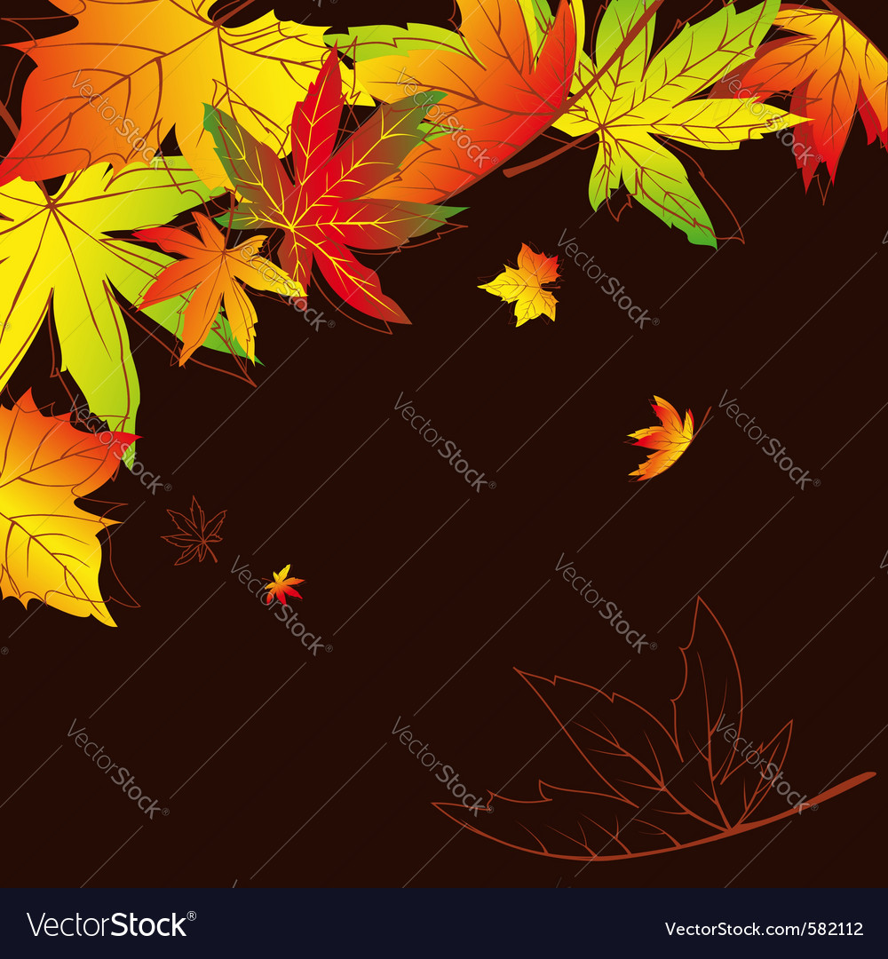 Autumn leaves background vector | Price:  Credit (USD $)