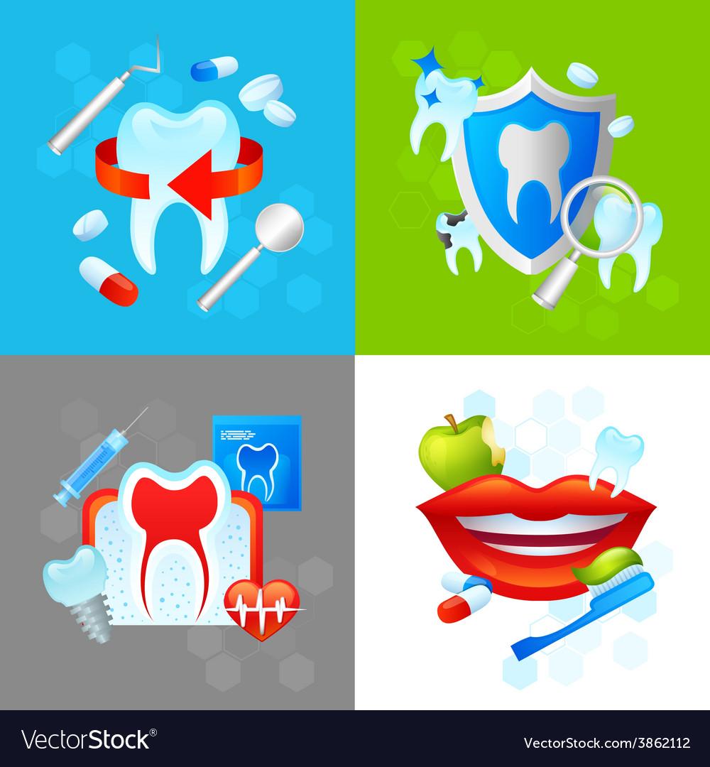 Dental design concept vector | Price: 1 Credit (USD $1)