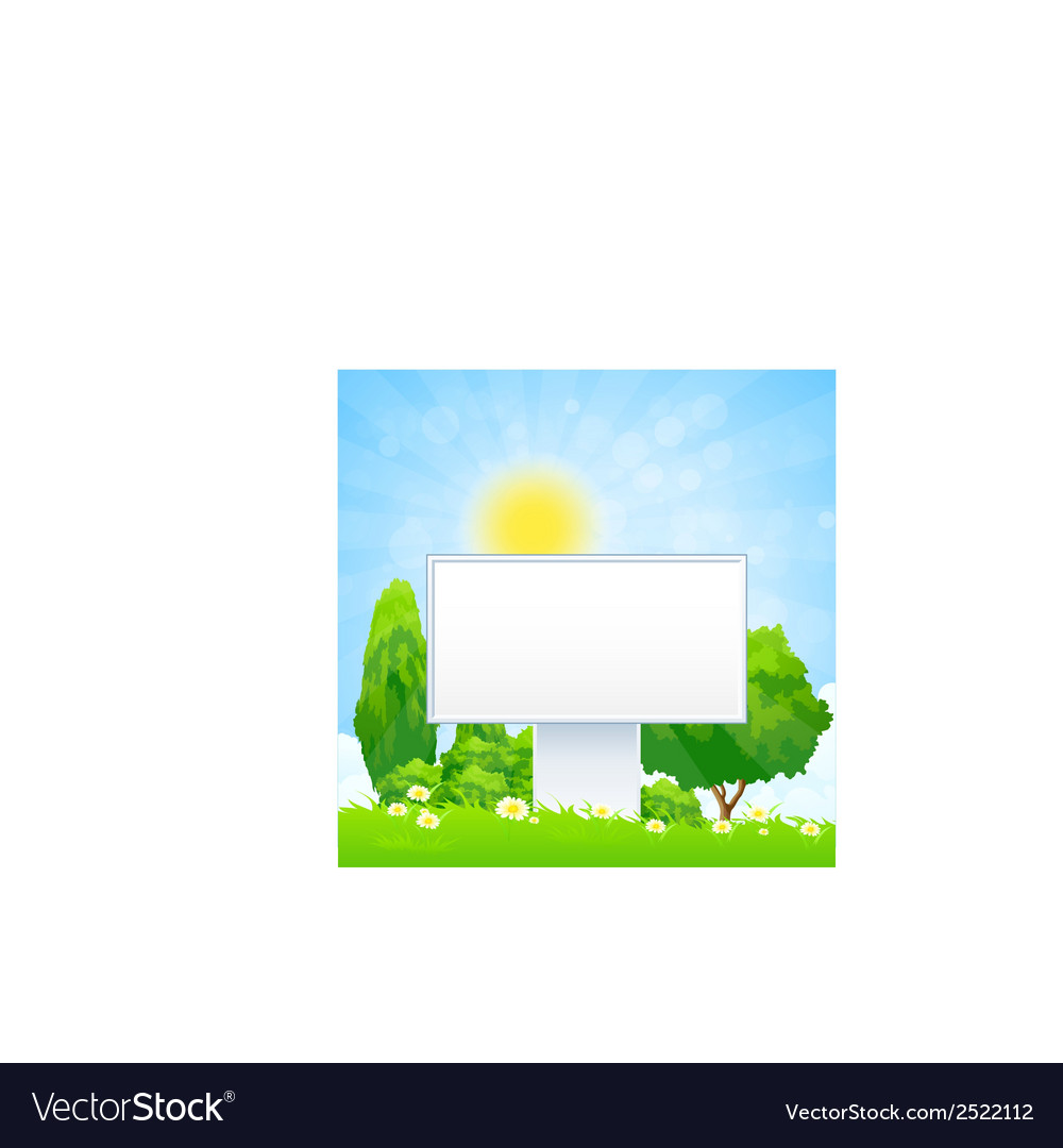 Empty billboard vector | Price: 1 Credit (USD $1)