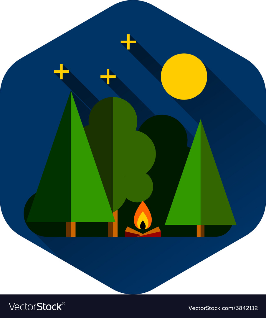 Forest camping outdoor vector   Price: 1 Credit (USD $1)