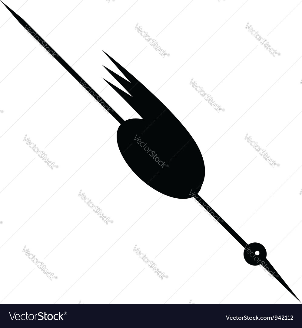 Funny stork black silhouette for your design vector | Price: 1 Credit (USD $1)