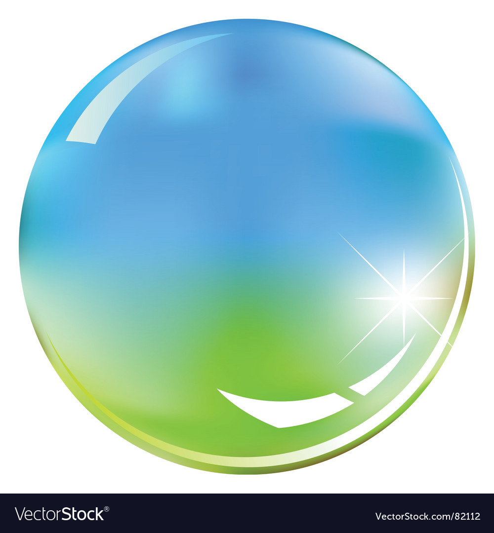 Green and blue shiny sphere vector | Price: 1 Credit (USD $1)