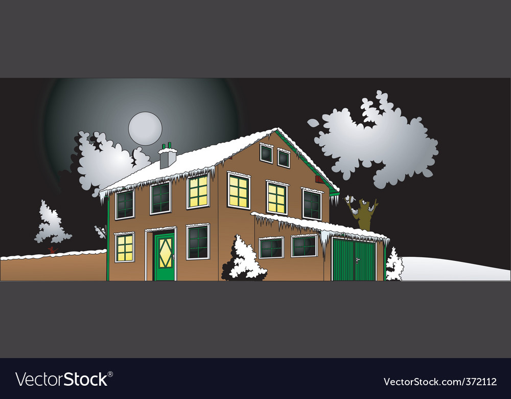 House with garden vector   Price: 1 Credit (USD $1)
