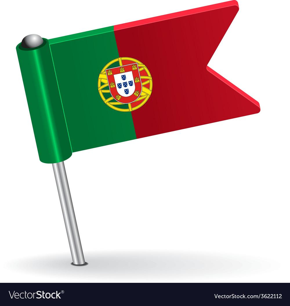 Portuguese pin icon flag vector | Price: 1 Credit (USD $1)