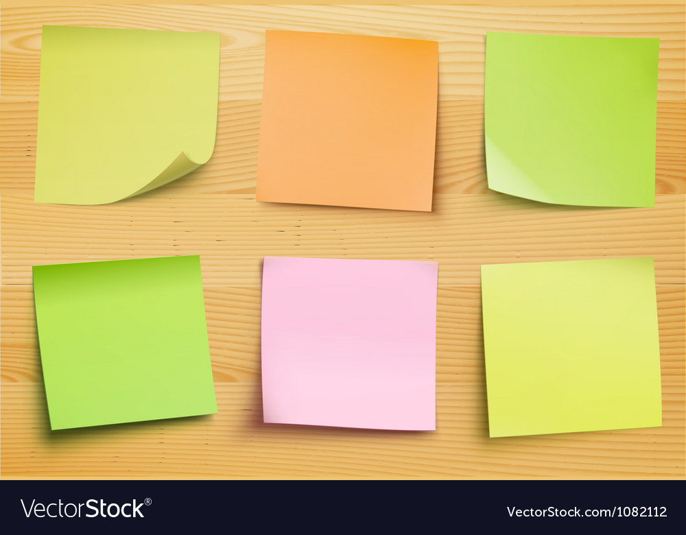Post it notes vector | Price: 1 Credit (USD $1)