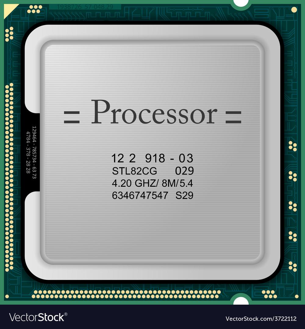 Processor computer hardware vector | Price: 1 Credit (USD $1)