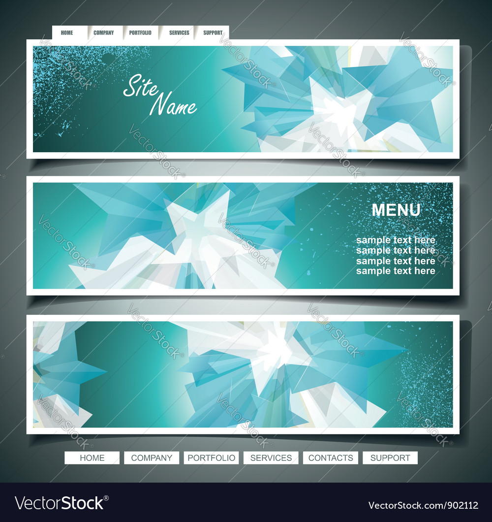 Stars banner set vector | Price: 3 Credit (USD $3)
