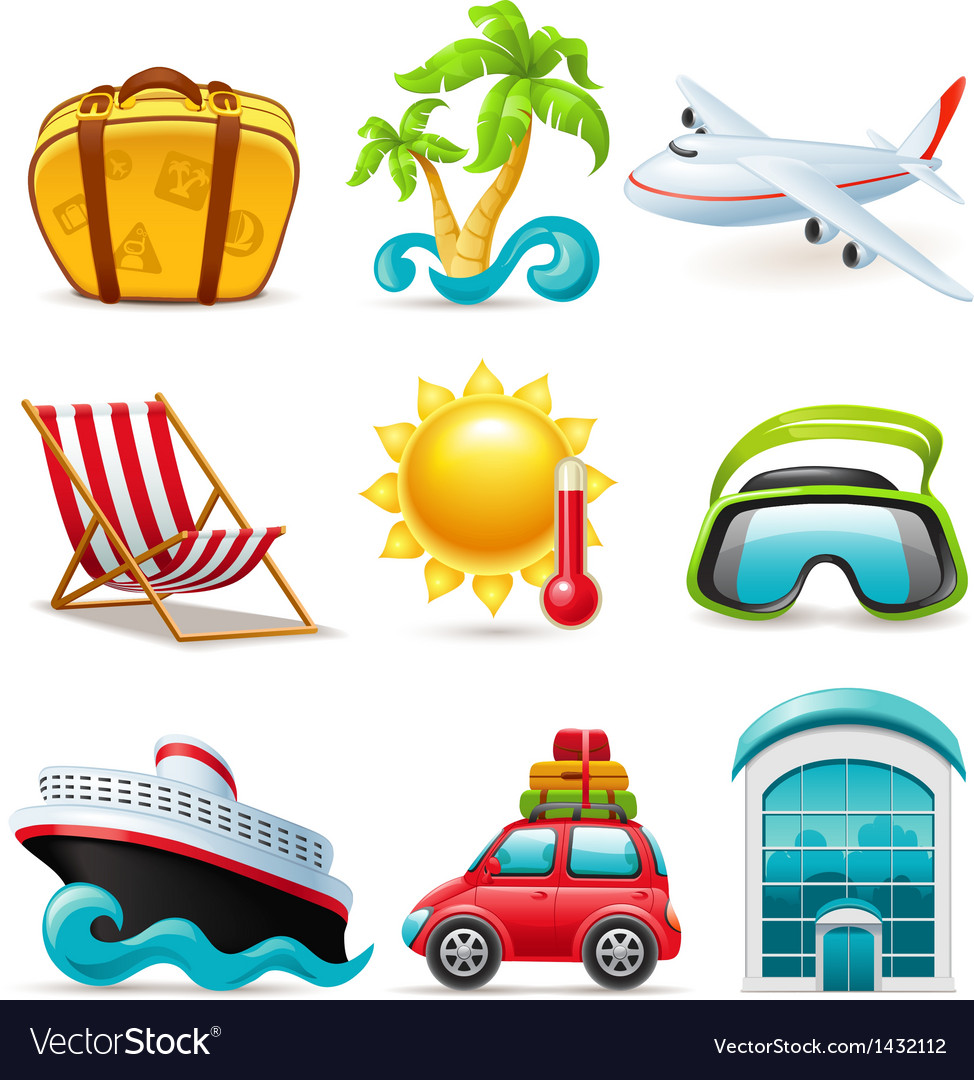 Travel icons vector | Price: 3 Credit (USD $3)