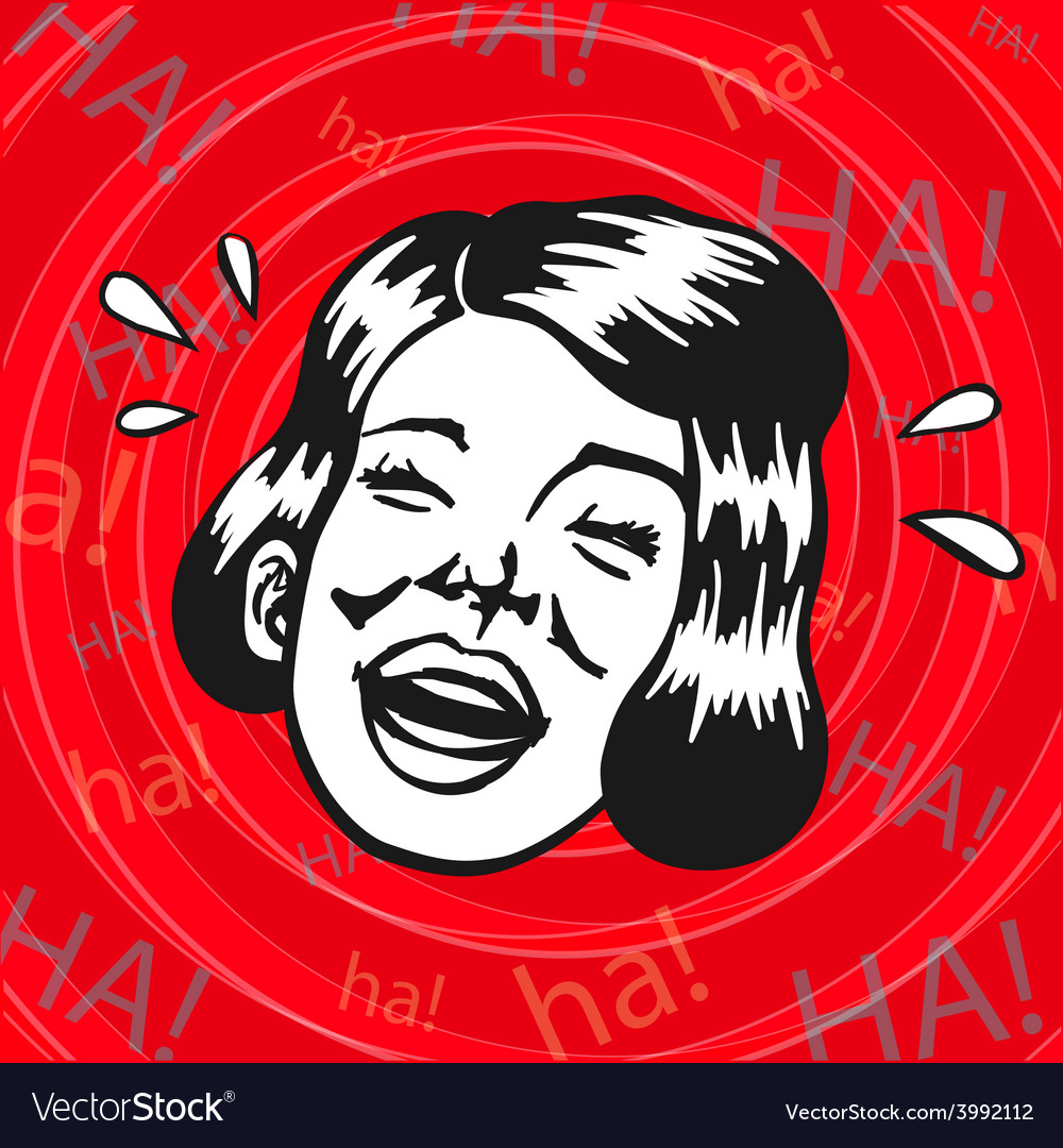 Vintage clipart woman having fun and laughing vector | Price: 1 Credit (USD $1)