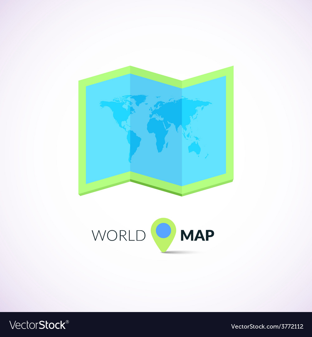 World map logo with pointer vector | Price: 1 Credit (USD $1)