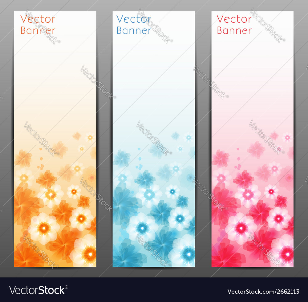 Abstract flower background brochure template vector | Price: 1 Credit (USD $1)