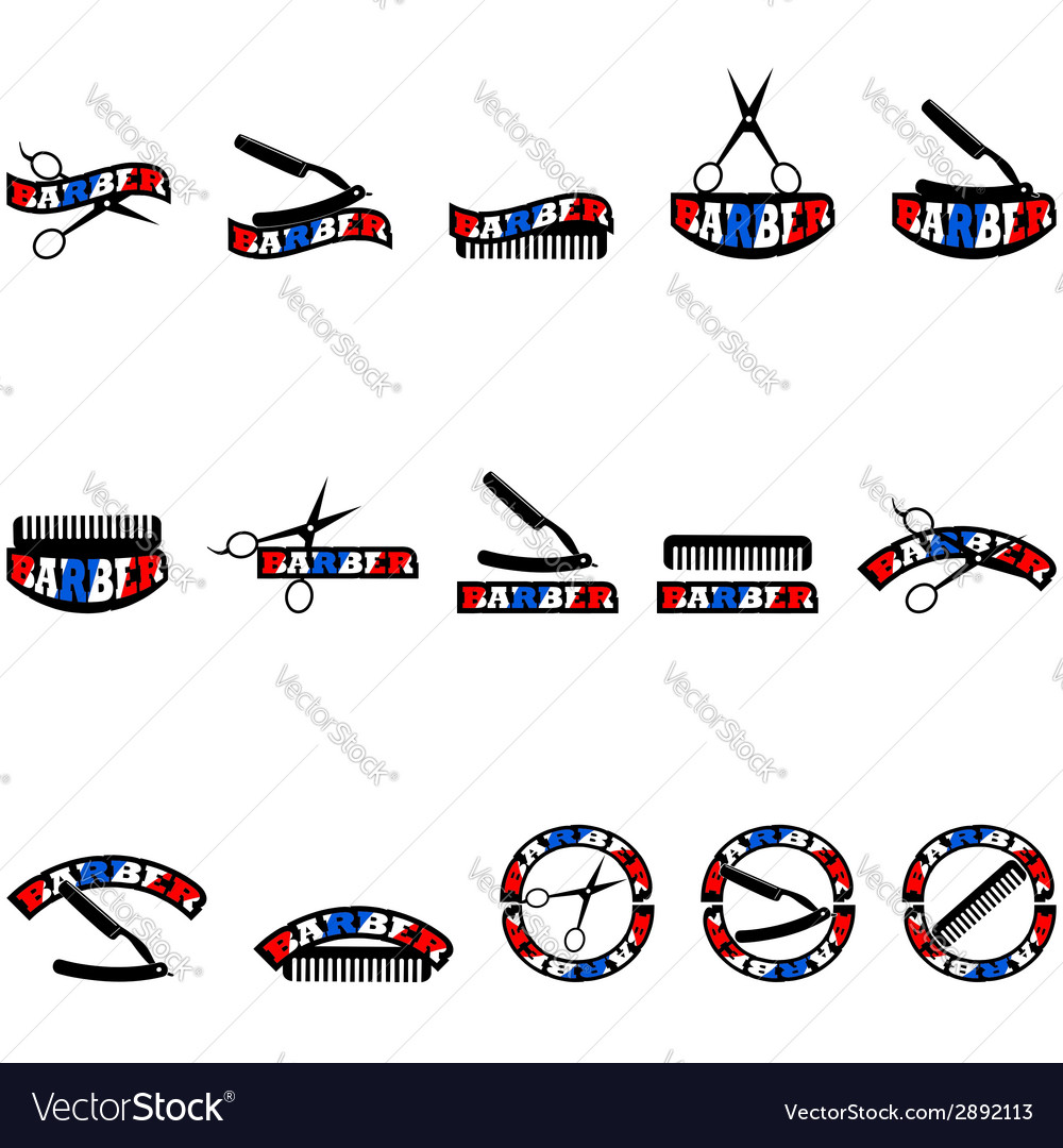 Barber icons vector | Price: 1 Credit (USD $1)