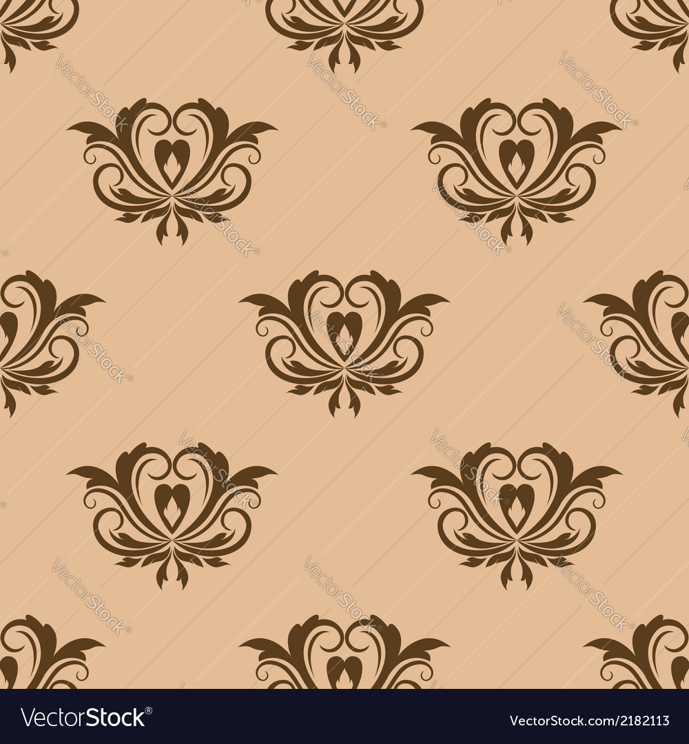 Beige and brown seamless pattern vector | Price: 1 Credit (USD $1)