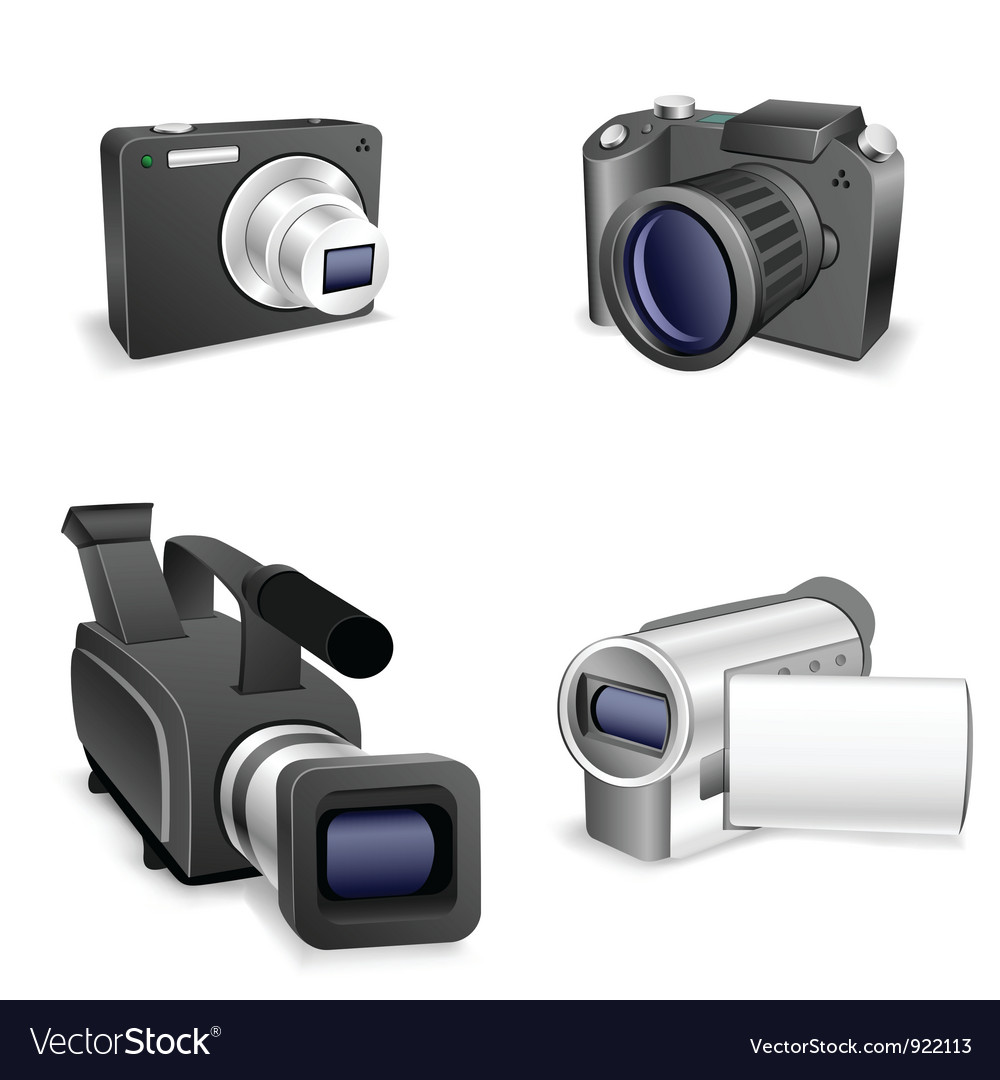 Camera set vector | Price: 3 Credit (USD $3)