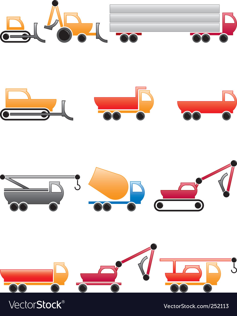 Construction machines vector | Price: 1 Credit (USD $1)