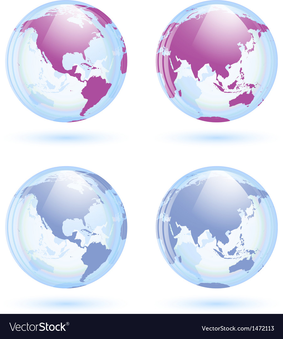 Earth globes set vector | Price: 1 Credit (USD $1)