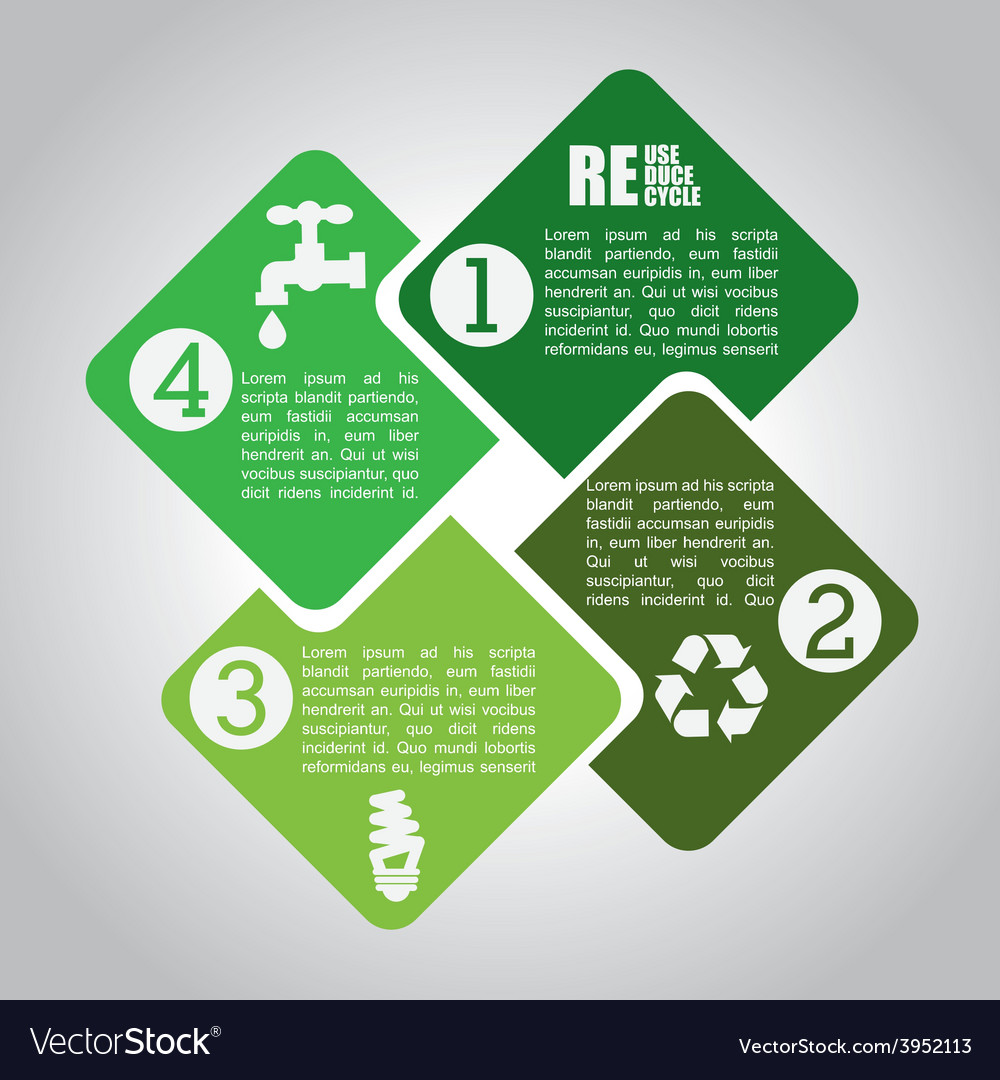 Ecology infographics vector | Price: 1 Credit (USD $1)