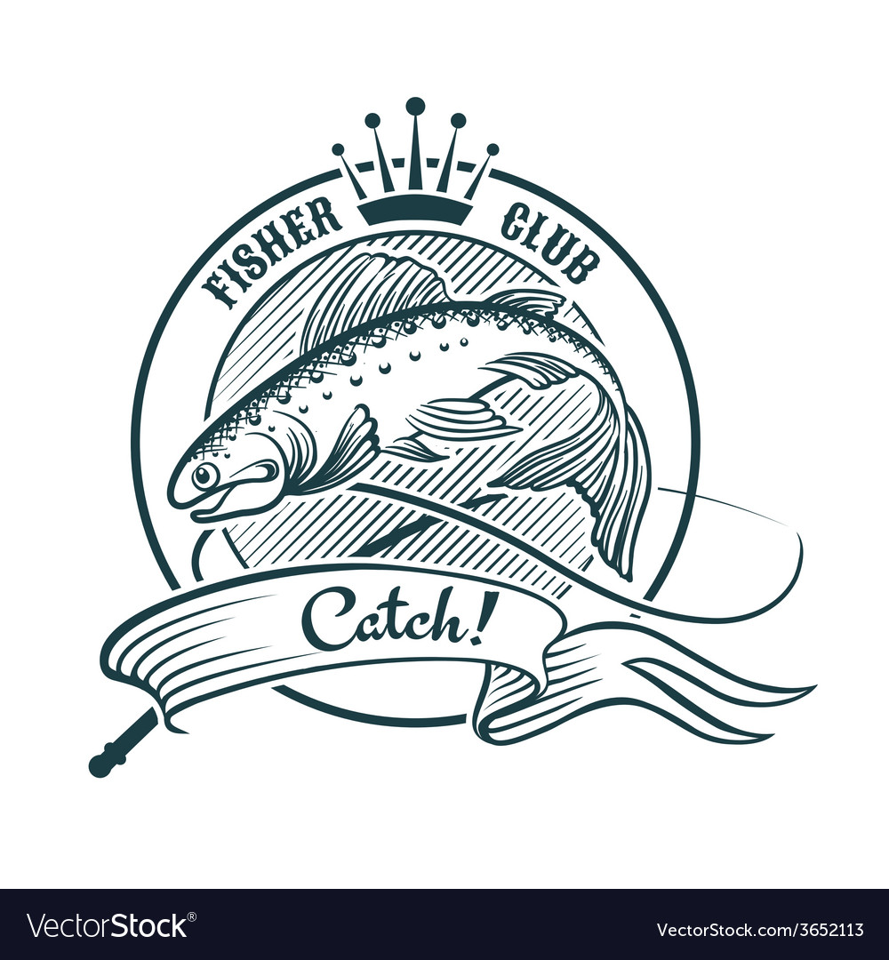Fisher club vector | Price: 1 Credit (USD $1)