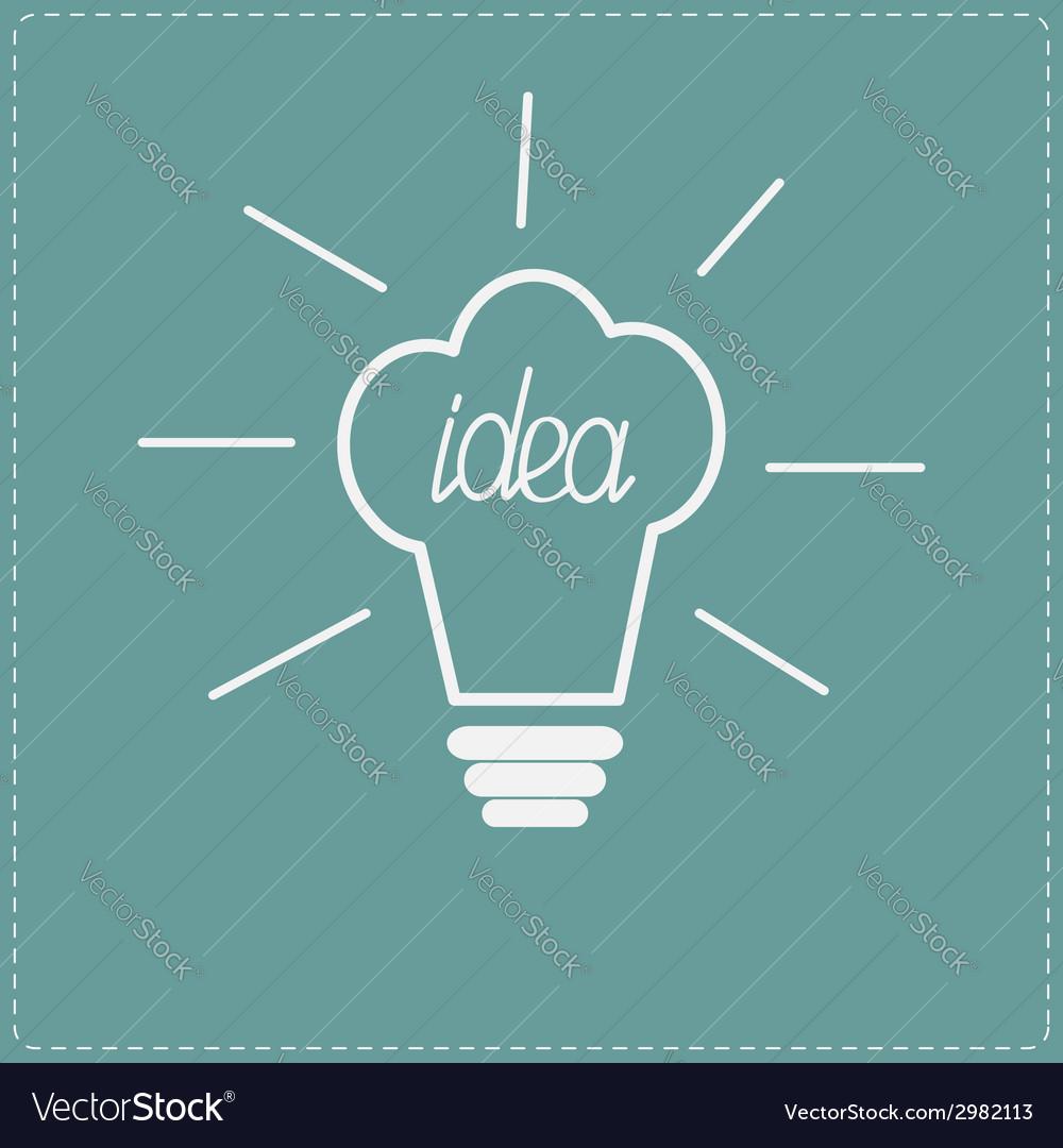 Idea light bulb in shape of chef hat flat design s vector   Price: 1 Credit (USD $1)