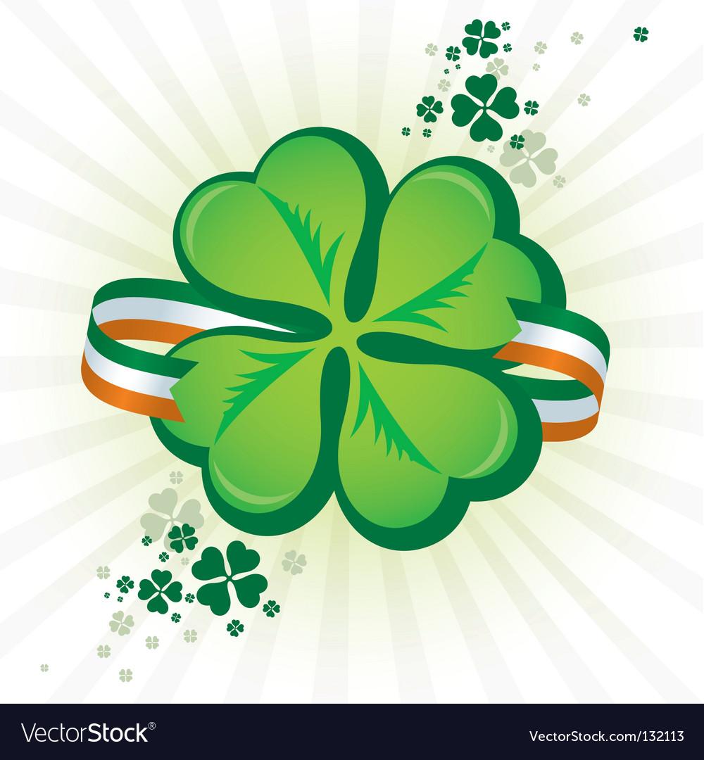 Irish shamrock icon vector | Price: 1 Credit (USD $1)
