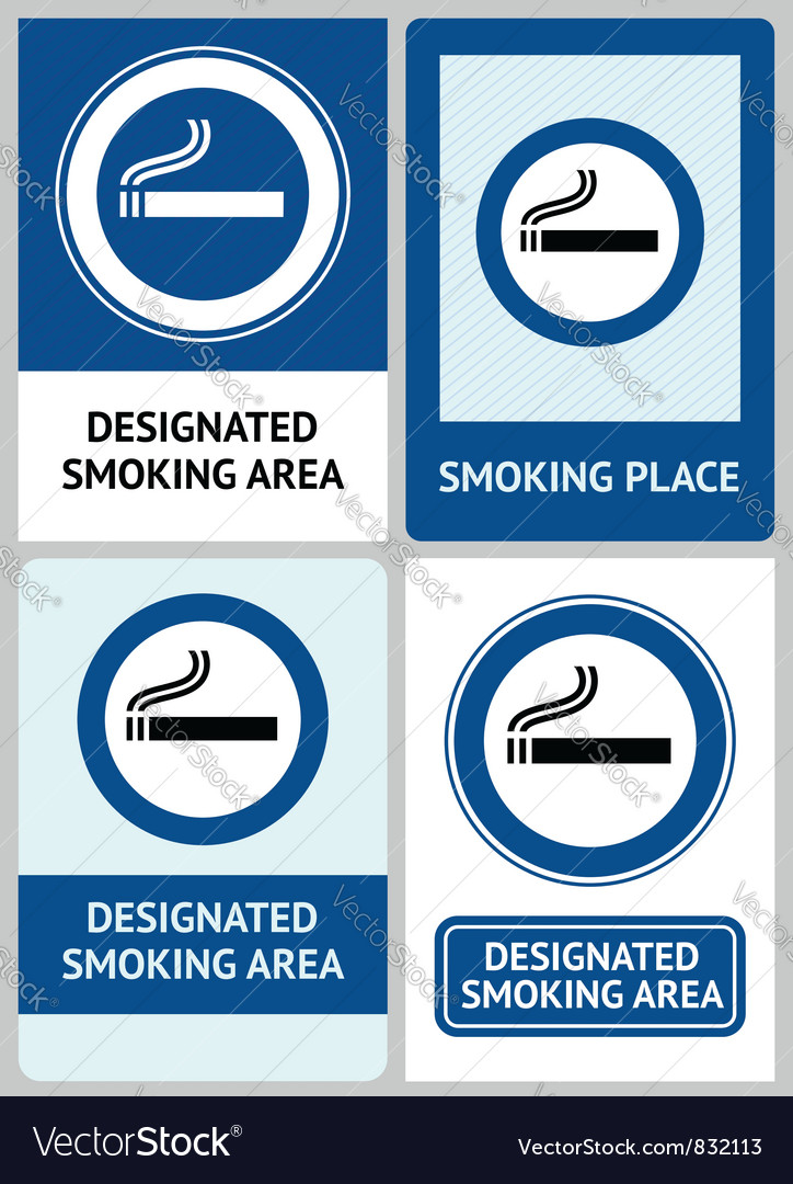 Label set smoking area vector | Price: 1 Credit (USD $1)