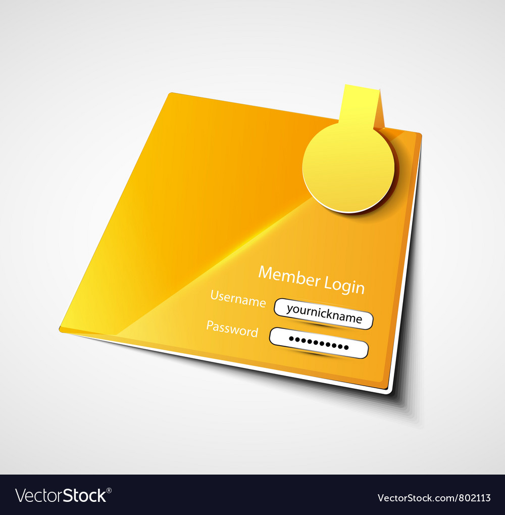 Login label background vector | Price: 1 Credit (USD $1)