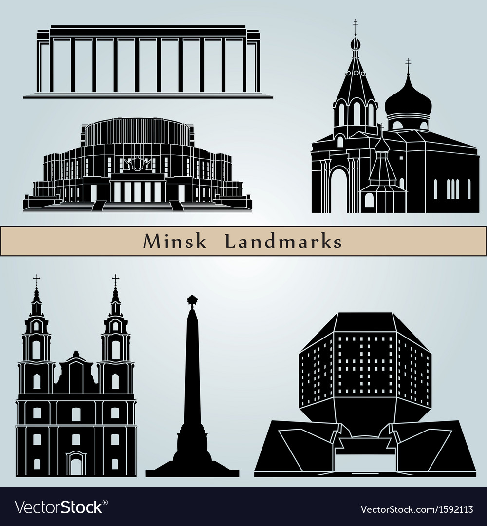 Minsk landmarks and monuments vector | Price: 1 Credit (USD $1)