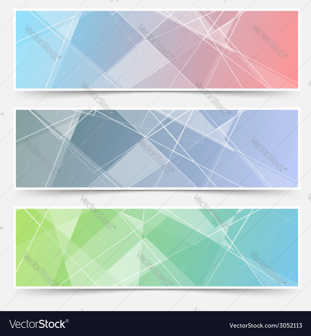 Modern abstract crystal structure cards set vector | Price: 1 Credit (USD $1)