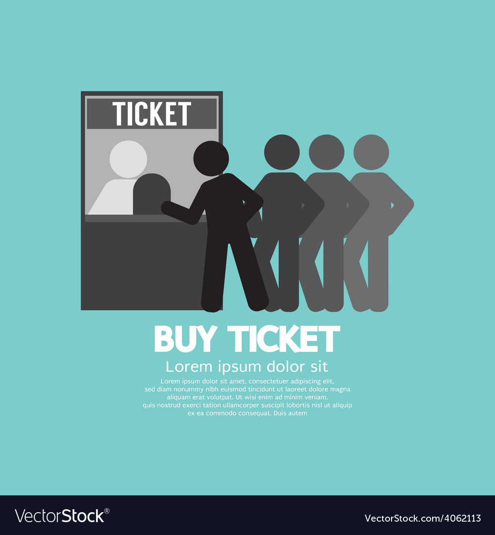 People buy ticket at service booth vector | Price: 1 Credit (USD $1)