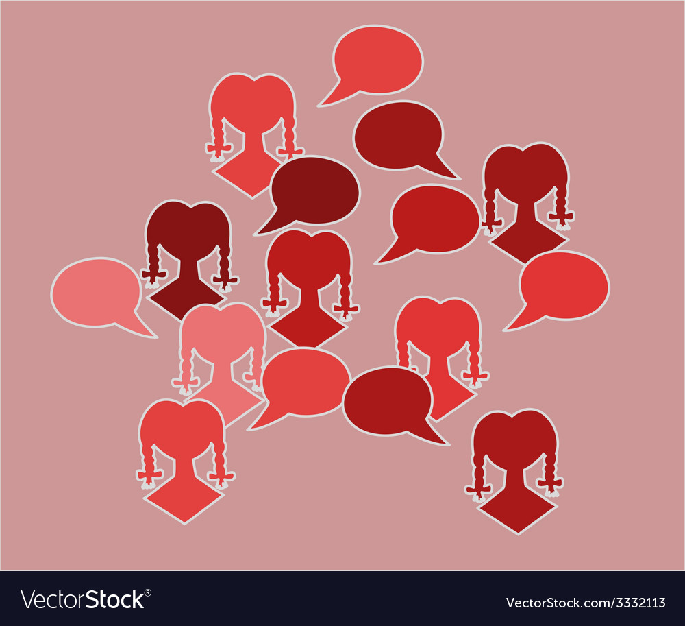Red silhouette speak bubble vector | Price: 1 Credit (USD $1)
