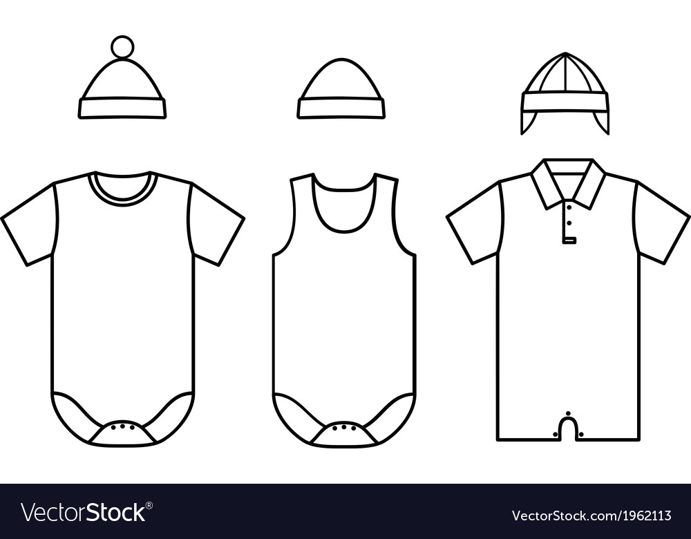 Set of child baby wear vector | Price: 1 Credit (USD $1)