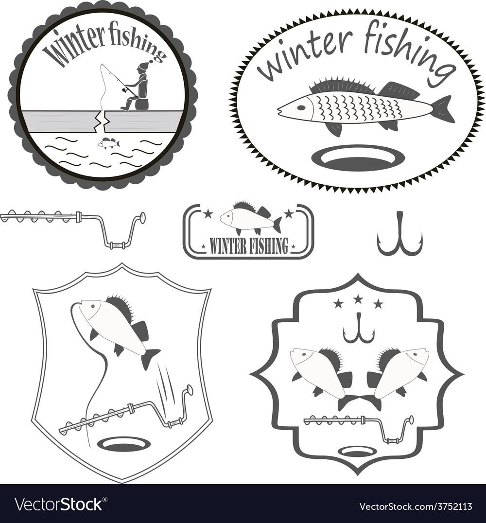 Winter fishing vector   Price: 1 Credit (USD $1)
