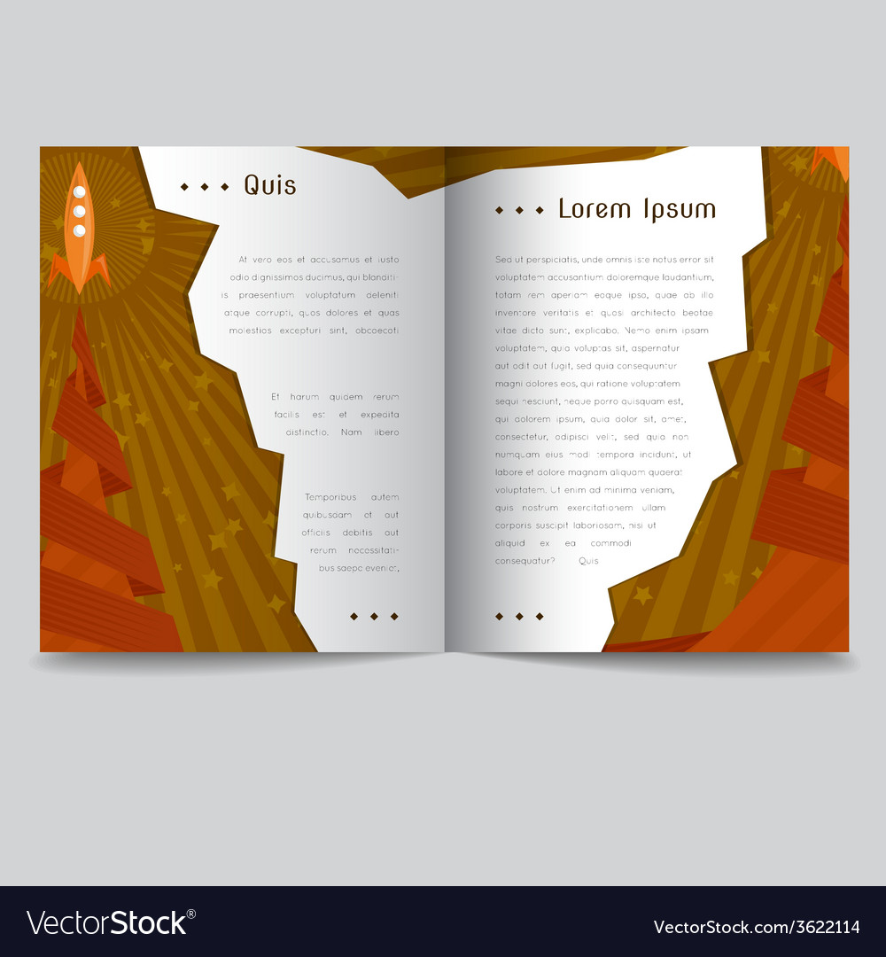 A booklet with a rocket vector | Price: 1 Credit (USD $1)