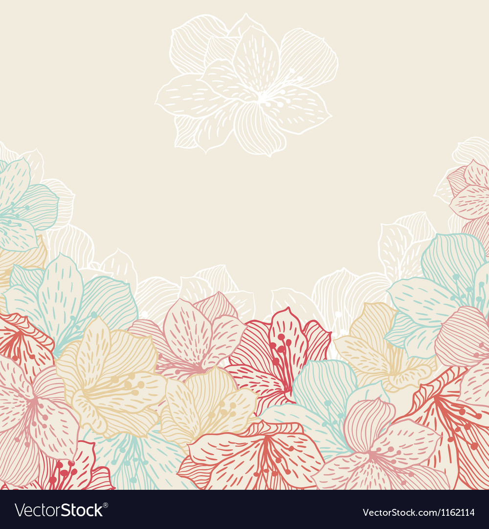 Abstract elegance seamless flower background with vector | Price: 1 Credit (USD $1)