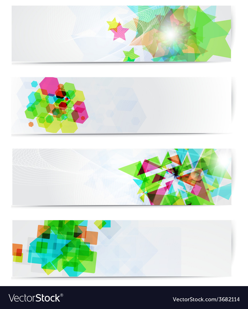 Abstract modern website banner set vector | Price: 1 Credit (USD $1)